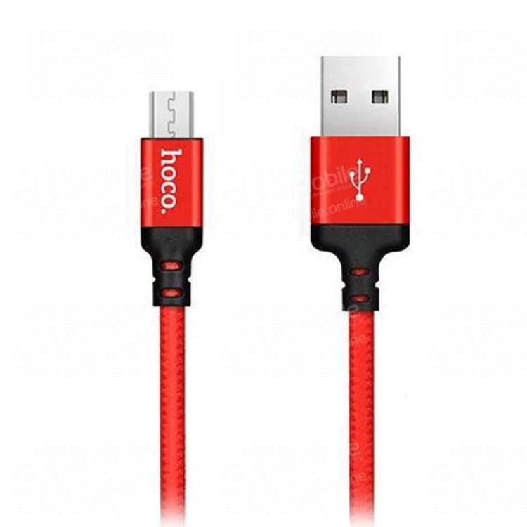 Кабель HOCO X14 Times Speed (USB - micro-USB) (красно-черный)